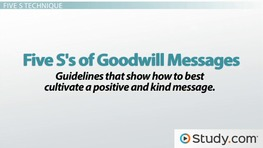 Goodwill in Business Communication