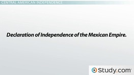 Independence for Central America: History, Timeline & Events