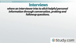 Conducting Surveys and Interviews: Explanation & Purpose