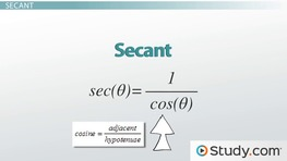 Other Trigonometric Functions: Cotangent, Secant & Cosecant