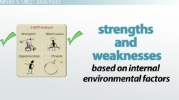Internal Strengths & Weaknesses in SWOT Analysis: Definition & Examples