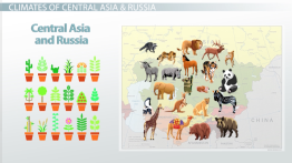 Distribution of Plants & Animals in Russia & Central Asia