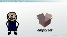 The Empty Set in Math: Definition & Symbol