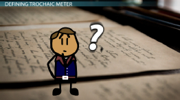 Trochaic Meter: Definition & Examples