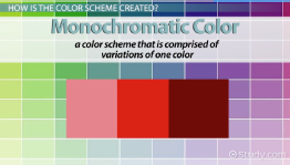 Monochromatic Color: Definition, Schemes & Examples
