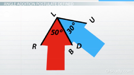Angle Addition Postulate: Definition & Examples