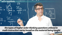 Higher Order Thinking Questions for Math Teachers