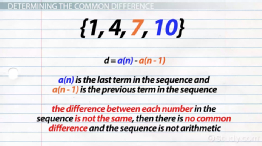Common Difference: Formula & Overview - Video & Lesson