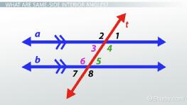 Same Side Exterior Angles Definition Theorem Video Lesson Transcript