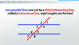 Same-Side Exterior Angles: Definition & Theorem