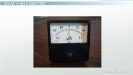 What is an Ammeter? - Definition & Function