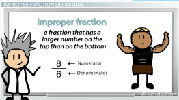 What Is An Improper Fraction?   Definition U0026 Example