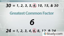 Word Problems: Greatest Common Factor & Least Common Multiple
