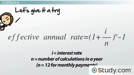 Effective Annual Rate: Formula & Calculations