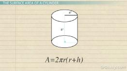 Finding the Area of a Cylinder: Formula & Example