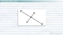 What Are Intersecting Lines? - Definition & Examples