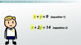 Solving Addition Equations with Two or More Variables