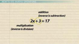 Inverse Operations in Math: Definition & Examples