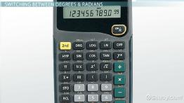 Radians & Degrees on a Calculator