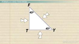 45-45-90 Triangle: Theorem, Rules & Formula