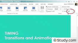 How to Set the Timing of Your PowerPoint Transitions and Animations