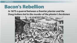 Bacon's Rebellion: Summary, Causes & Significance