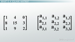 Square Matrix: Definition & Concept