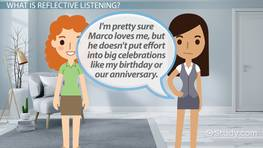 Reflective Listening Statements Examples