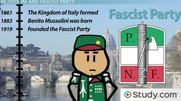 The Rise of Benito Mussolini and Italian Fascism: Facts & Timeline