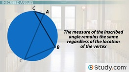 Central and Inscribed Angles: Definitions and Examples