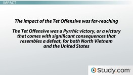 The Tet Offensive: The First Major Offensive from North Vietnam