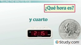 Telling the Minutes to 30: Time in Spanish