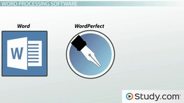What Is Word Processing Software? - Definition, Types & Examples