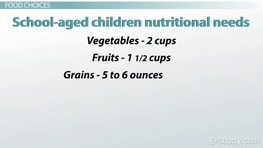 Children's Nutritional Needs