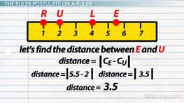 Ruler Postulate: Definition & Examples
