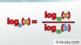 Using the Change-of-Base Formula for Logarithms: Definition & Example