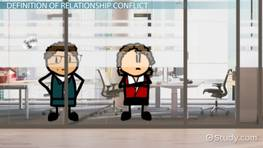 Relationship Conflict and Management: Definition & Resolution Strategies