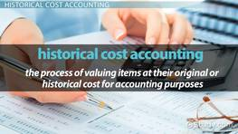 historical cost principle accounting