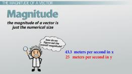 Vector Components: The Magnitude of a Vector
