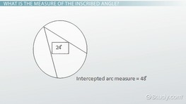 Inscribed Angle: Definition, Theorem & Formula