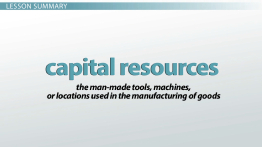 What Are Capital Resources? - Definition & Examples