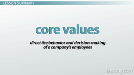 What Are Core Values of a Company? - Definition & Examples