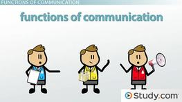 What are the Functions of Communication? - Definition & Examples