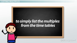 What is a Multiple in Math? - Definition & Overview