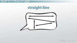 What is a Straight Line? - Definition & Examples