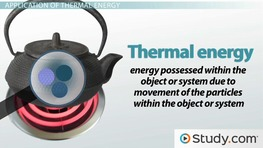 What is Thermal Energy? - Definition & Examples