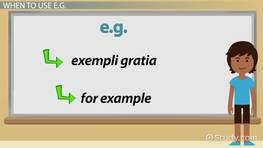 When & How to Use 'e.g.' in a Sentence