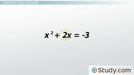 Write the Standard Form of an Equation by Completing the Square