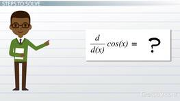 Solving the Derivative of cos(x)