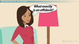 How to Write an Affidavit: Format, Template & Sample - Video